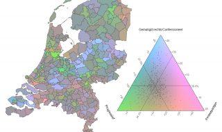 Een nieuwe manier om verkiezingsuitslagen in kaart te brengen in een versnipperd politiek landschap